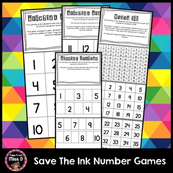 Save the Ink Number Games