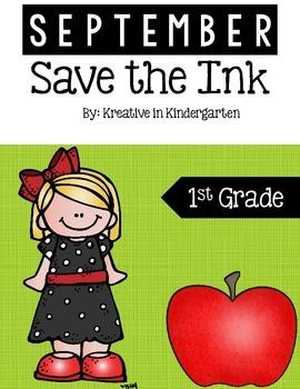 Save the Ink September- 1st grade