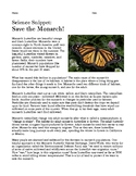 Save the Monarch! (Reading Comprehension)