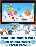Save the North Pole:  A Winter-Themed Editable Digital Esc