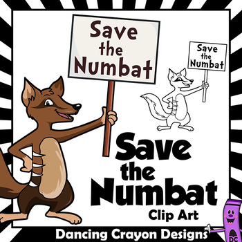 Save the Numbat Clip Art - Endangered Species