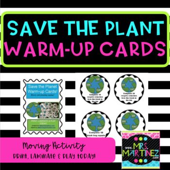Save the Planet Warm-up Cards