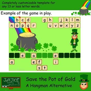 Save the Pot of Gold - a St Patricks Day hangman alternative