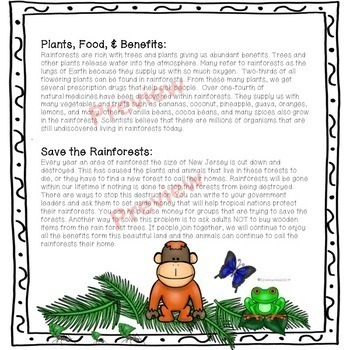 Save the Rainforest: Article and Tab Book for Tracking Down Text Evidence