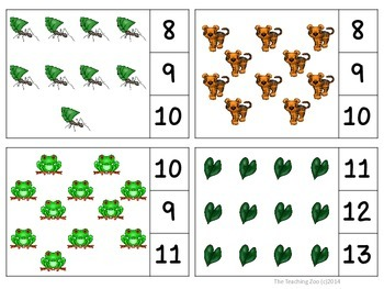 Save the Rainforest Count & Clip Task Cards 1-30