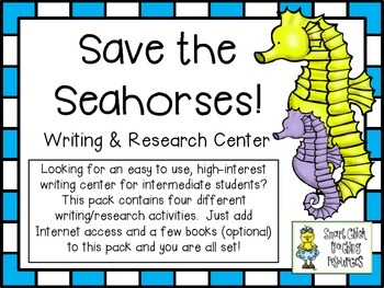 Save the Seahorses! ~ Writing and Research Center with 4 P