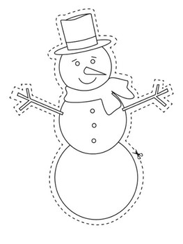 Save the Snowman Writing Foldable