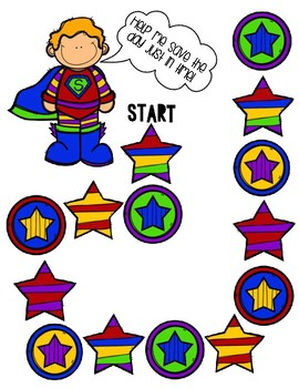 Save the Superhero Elapsed Time File Folder Game