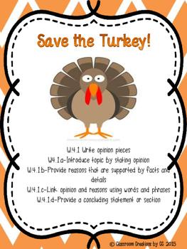 Persuasive Writing-Save the Turkey!