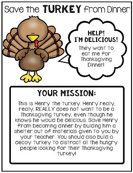 Save the Turkey From Dinner S.T.E.M. Project