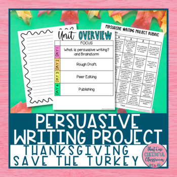 Save the Turkey -- Persuasive Writing Project