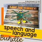 Save the Turkey Speech and Language BUNDLE
