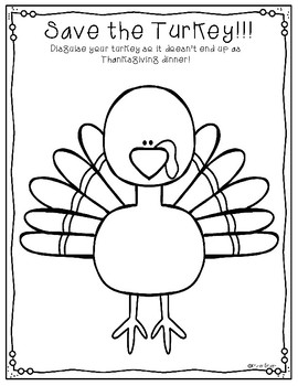 Save the Turkey Thanksgiving Freebie