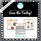 Save the Turkey! Customizable Thanksgiving Themed Escape Room / Breakout Game