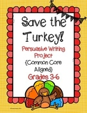 Save the Turkey! Thanksgiving Writing Project. CCSS Aligned. Grades 3-6