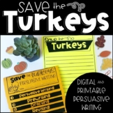Thanksgiving Activities: Thanksgiving Persuasive Writing, Turkey Trouble Writing