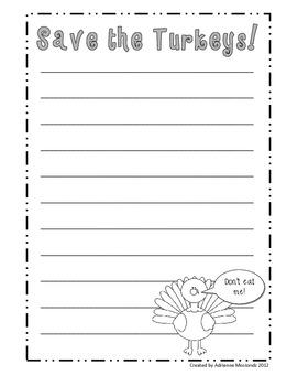Save the Turkeys! {Thanksgiving Persuasive Writing}