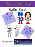 Save the world superheroes bulletin board
