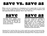 Save vs. Save As reference