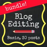 Save with a Bundle! Basic Editing - 30 Blog Posts