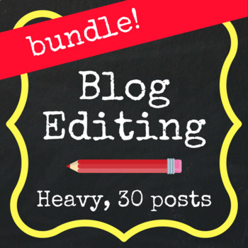 Save with a Bundle! Heavy Editing - 30 Blog Posts