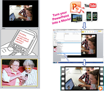 Save your PowerPoint as a MOVIE and upload it!