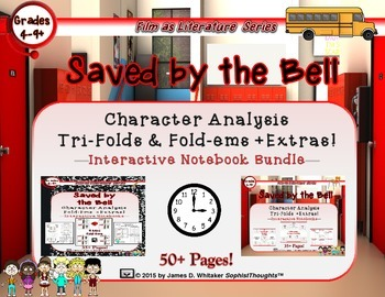 Saved by the Bell Character Analysis Tri-Folds & Fold-Ems Bundle