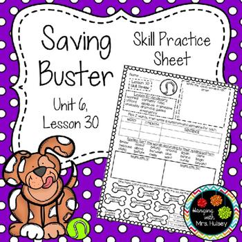 Saving Buster (Skill Practice Sheet)