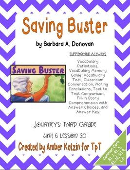 Saving Buster Supplemental Activities 3rd Grade Journeys Unit 6, Lesson 30