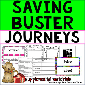 Saving Buster Journeys Third Grade Supplemental Materials