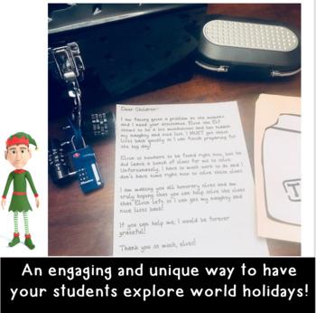 Saving Christmas Escape Room: A Christmas Around the World Activity- Grades 3-5