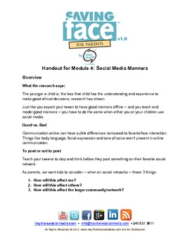 Saving Face: Social Media Manners