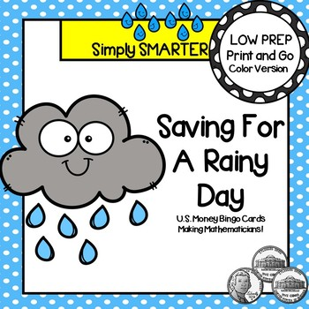Saving For A Rainy Day:  LOW PREP U.S. Coin Counting Bingo