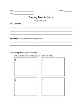 Saving Fred Scientific Method Worksheet By Ms Mo Middle Madness Tpt Saving Fred Flow Chart Saving Fred Scientific Method Worksheet