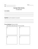 Saving Fred Scientific Method Worksheet