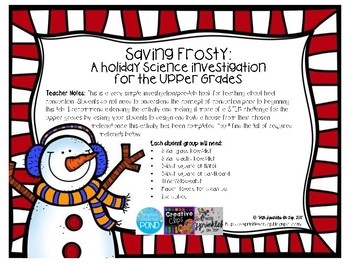 Saving Frosty: A Holiday Science Activity