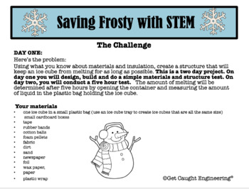STEM Saves Frosty: An Engineering Exploration of Structural Materials