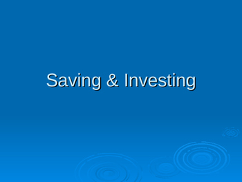 Saving & Investing PowerPoint presentation