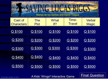 Saving Lucas Biggs by Marisa de los Santos!  An Amazing Time-Travel Adventure!