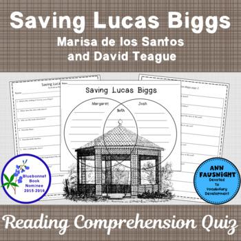Saving Lucus Biggs: A Reading Comprehension Quiz and activity
