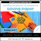 Saving Paper • Reading Comprehension Passages and Questions • RL I
