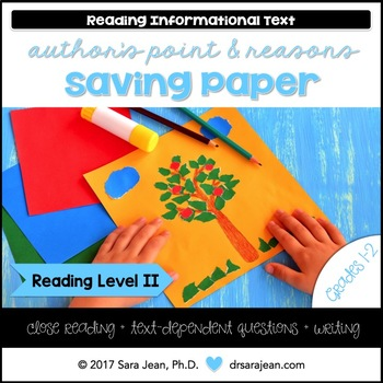 Saving Paper • Reading Comprehension Passages and Questions • RL II