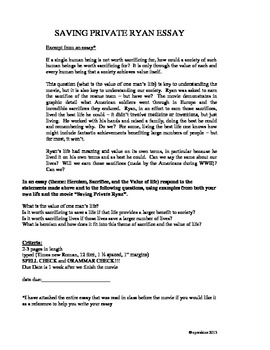 Saving Private Ryan Miniunit By Nick Erskine  Teachers Pay Teachers Saving Private Ryan Miniunit Business Essay Examples also Pay To Write My Report  Essays Examples English