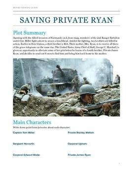 Saving Private Ryan Movie Viewing Guide