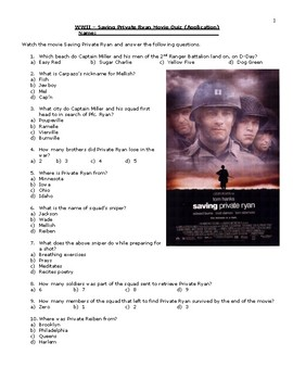 Saving Private Ryan Quiz