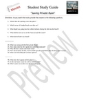 Saving Private Ryan - Student Study Guide for Movie