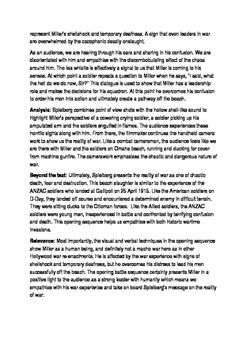 Saving Private Ryan scaffolded essay