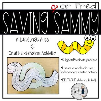 Saving Sammy (STEM) Subject Predicate Craftivity
