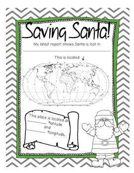 Saving Santa - A Fun Geography Activity - Perfect for Christmas and December!