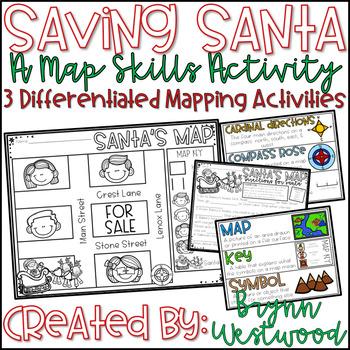 Saving Santa-A Map Skills Activity